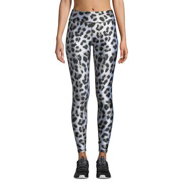 Leopard-Print Tall Band Performance Leggings