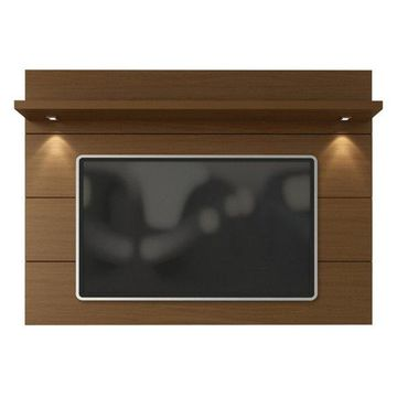 Manhattan Comfort Cabrini Tv Panel 1.8, Nut Brown