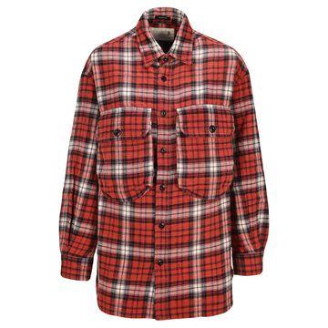 R13 Oversize Plaid Shirt