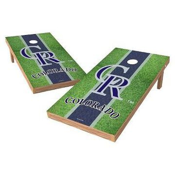 MLB Wild Sports XL Shield Field Cornhole Bag Toss Set - 2x4 ft.