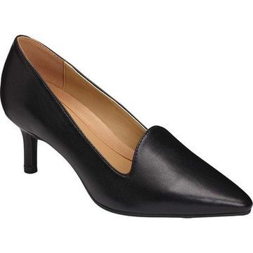 Aerosoles Women's Platinum Macrame Pump Black Leather