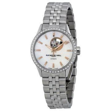 Raymond Weil Women's 2410-STS-97981 'Freelancer' Diamond Automatic Stainless Steel Watch