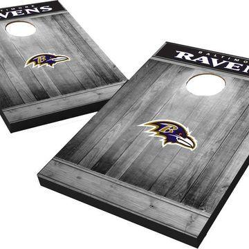 Wild Sports Baltimore Ravens Grey Wood Tailgate Toss