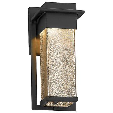 Justice Design Group Fusion Pacific Outdoor Wall Sconce - Color: Black - Size: Small - FSN-7541W-MROR-MBLK
