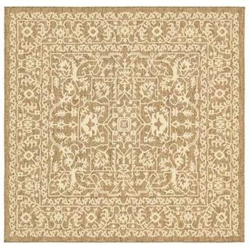 Unique Loom Maria 6' x 6' Power-Loomed Indoor/Outdoor Area Rug in Brown