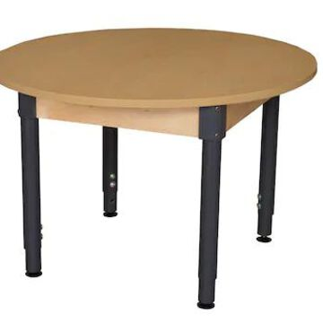 Wood Designs 42 Round High Pressure Laminate Table with Adjustable Legs 18-29 (HPL42RNDA1829) | Quill