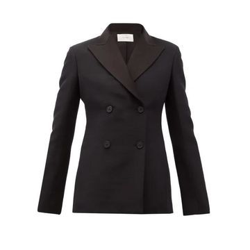 The Row - Zori Double-breasted Wool-blend Faille Jacket - Womens - Black