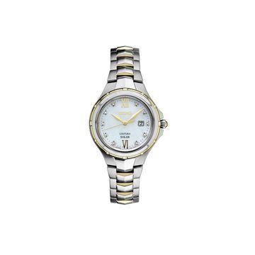 Seiko Womens Two Tone Stainless Steel Bracelet Watch-Sut308