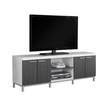 MONARCH - TV STAND - WHITE / GREY - FOR TV'S UP TO 60