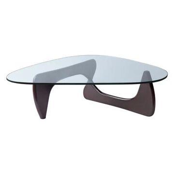 Fine Mod Imports Tribeca Coffee Table, Dark Walnut, 16