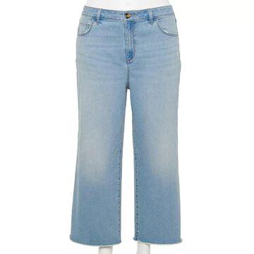 Plus Size Sonoma Goods For Life Wide-Leg Crop Jeans, Women's, Size: 24 W, Light Blue