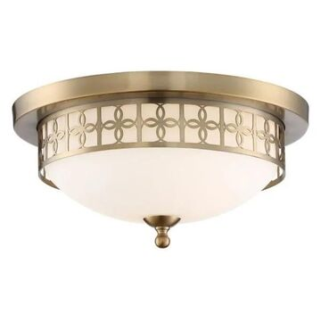 Crystorama ANN-2103-VG Anniversary - Two Light Flush Mount