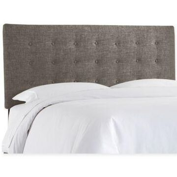 Skyline Furniture Norbeck Fabric Button California King Headboard in Charcoal