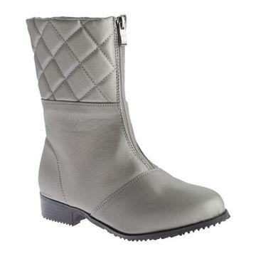 Beacon Shoes Women's Quebec Boot Grey Vylon