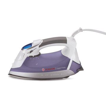 SINGER Expert Finish 1700 Watt Anti-Drip Steam, Electronic Flat Iron with Brushed Stainless Steel Soleplate, EF.04