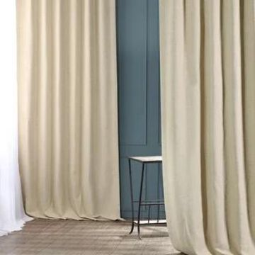 Exclusive Fabrics Candlelight Bellino Blackout Curtain Panel (50 x 120 - Ivory)