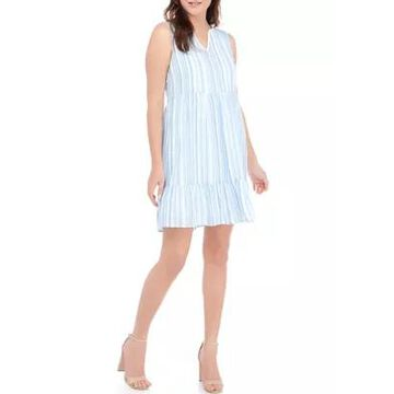 Ronni Nicole Women's Sleeveless Tiered Stripe Babydoll Dress -