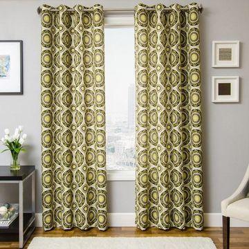 Softline 1-Panel Nala Medallion Window Curtain