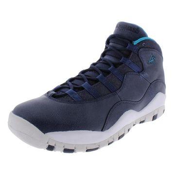 Jordan Boys Air Jordan 10 Retro BG Basketball Shoes Faux Leather Hightop