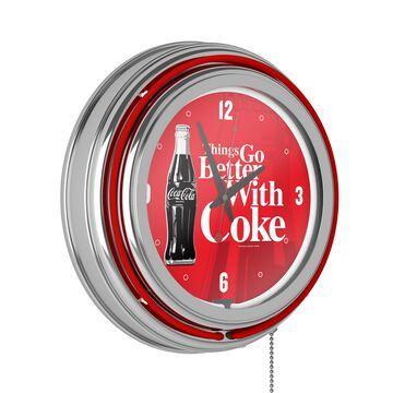 Trademark Gameroom Clocks Analog Round Wall Clock in Chrome | COKE-1400-BTL3