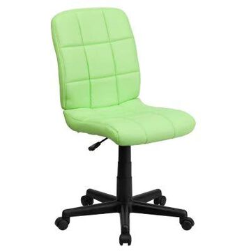 Flash Furniture Mid-Back Quilted Vinyl Office Chair in Green
