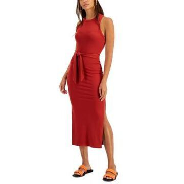 Bar Iii Solid Ribbed Knit Midi Dress, Created for Macy's