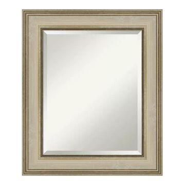 Amanti Art Colonial Framed Bathroom Vanity Wall Mirror, Gold, 42X30