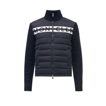 Moncler - Logo-embroidered Wool Jacket - Mens - Dark Navy