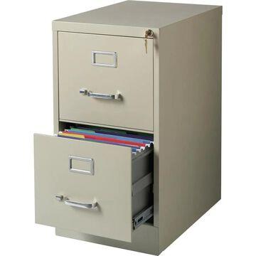 Lorell Putty 2-Drawer File Cabinet in Bronze | LLR42290