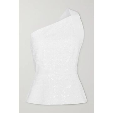 Roland Mouret - Coreana One-shoulder Sequined Crepe Top - White