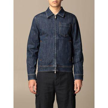 Eleventy denim jacket with zip