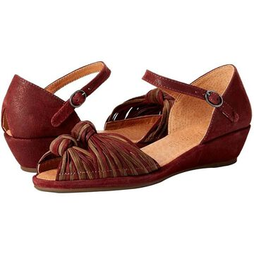 Gentle Souls Women's Shoes Lily Knot Leather Peep Toe Casual Slide Sandals