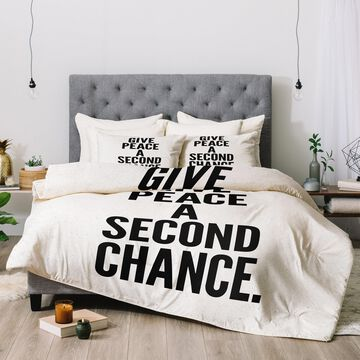 Deny Designs Peace 3-Piece Comforter Set