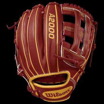 Wilson A2000 PP05 Fielder's Glove - Brick Red / Vegas Gold