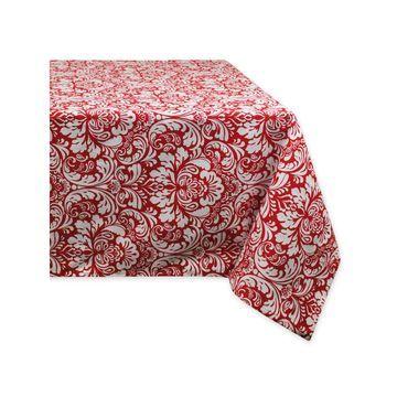 Design Imports Damask Tablecloth