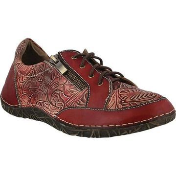 L'Artiste by Spring Step Women's Cluny Sneaker Red Full Grain Leather