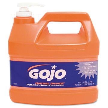 GOJO Natural Orange Pumice Hand Cleaner Orange Citrus 1gal Pump 4/Carton