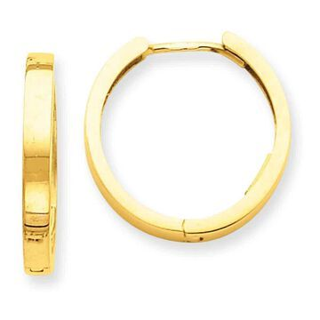 Versil 14 Karat Yellow Gold Hinged Hoop Earrings