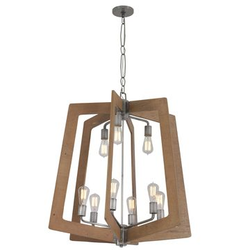 Varaluz Lofty 9-Light Wheat Chandelier