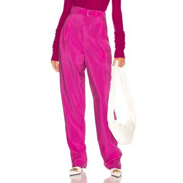 Lemaire Pleated Belted Pant in Fuchsia | FWRD