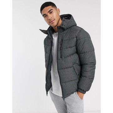Esprit puffer jacket in gray melange