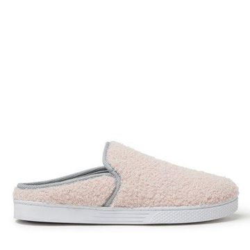 Dearfoams Women's Micro Curly Pile Clog Slippers