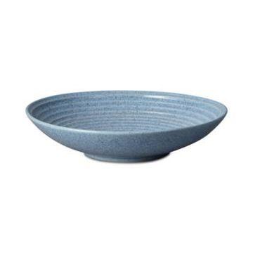 Denby Studio Blue Flint Large Ridged Bowl