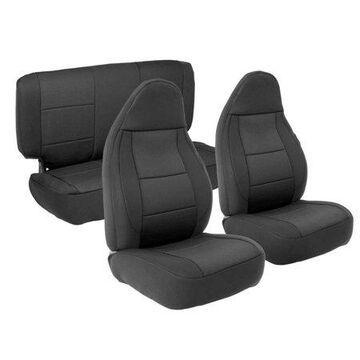 Smittybilt Neoprene Front and Rear Seat Cover Kit (Black) - 471201