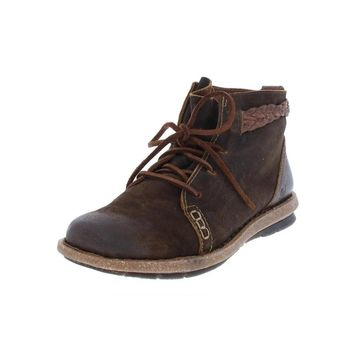 Born Womens Temple Booties Suede Ankle