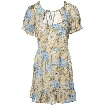 For Love & Lemons Beige Polyester Dresses