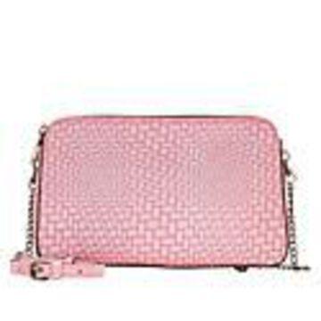 Patricia Nash Chambery Leather Crossbody Bag - Blush Woven