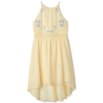 Big Girls Embroidered High-Low Hem Dress