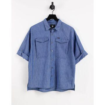 G-Star joosa denim button up shirt in blue-Blues