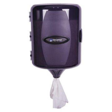 San Jamar Adjustable Centerpull Towel Dispenser, 9 5/8 x 9 3/8 x 13 3/8, Black Pearl -SJMT410TBK
